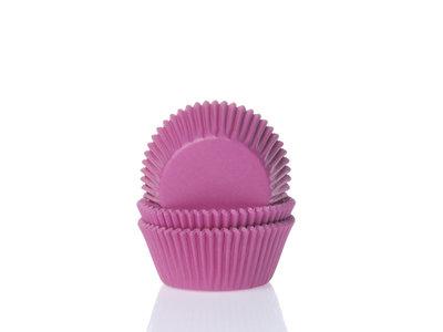 CUPCAKE CUPS MINI HOT PINK 35X23MM. 60ST.