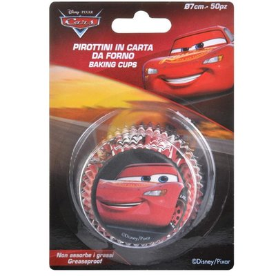 CUPCAKE CUPS CARS PIXAR 50 X 33 MM / 50ST.