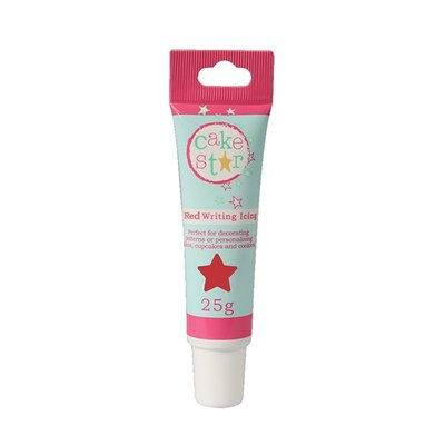 CAKE STAR WRITING ICING - RED - 25G