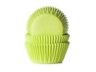 CUPCAKE CUPS LIME GROEN 50X33 MM. 50 ST.