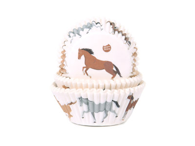 CUPCAKE CUPS PAARDEN 50X33 MM. 50 ST.